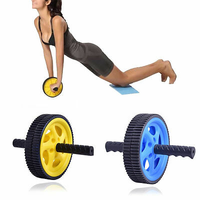 New ABS Abdominal Roller Wheel Workout Exerciser Fitness Gym Roller Exercise