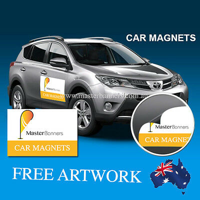 OZ STOCK CUSTOM-MADE Magnetic car sticker Advertise car magnet personalised