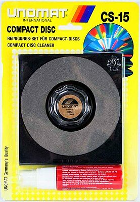 Neu CD/DVD Reinigungs-Set, Reinigungsmittel, UNOMAT CS-15