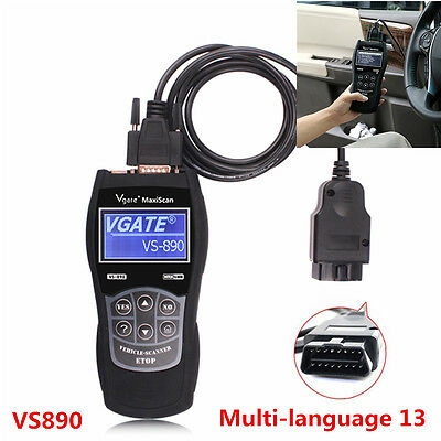 2016 VS890 OBD2 Multi-language Diagnostic Tool CAN BUS Fault Code Reader Scanner