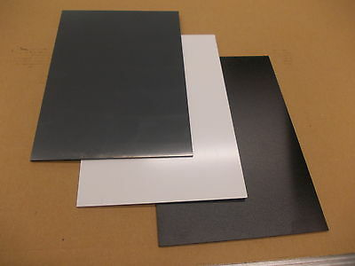 9mm A4 solid White UPVC sheet 297 mm x 210 mm satin finish engineering-cladding