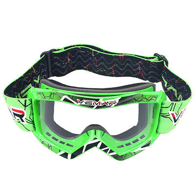 MOTO-X Racing Youth Kids Goggles Clear Lens Off Road ATV MX Foldable Glasses