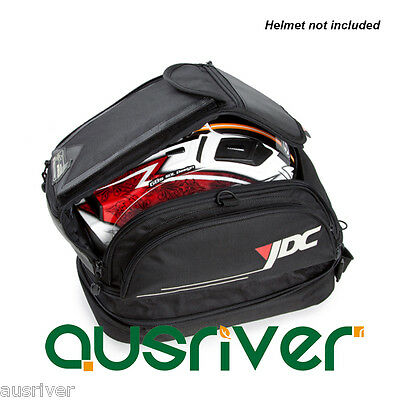 Brand New Waterproof Motorcycle Rear Tail Bag Tank Bag Helmet Case+Cover Black