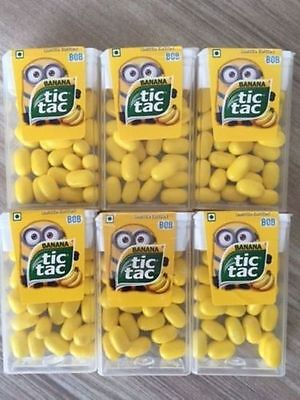 Set of 10 Despicable Me Minion Limited Edition Tic Tac Bob Candy New FREE SHIP
