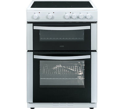 LOGIK LFTG60W16 Electric Ceramic Single Oven Cooker with Seperate Grill White