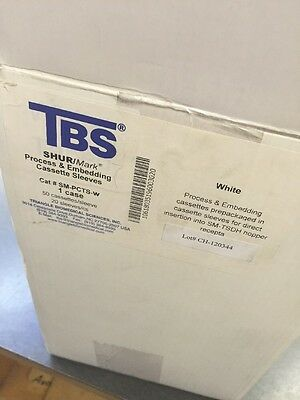 TBS Shur/Mark Process & Embedding Cassettes White Case Of 1,000 New SM-PCTS