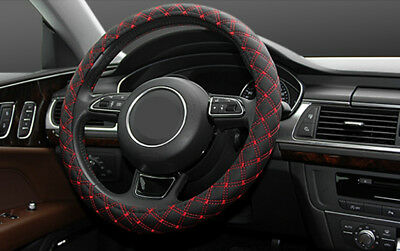Soft Leather Steering Wheel Cover Wheelskins Red Line Car Truck Van Parts