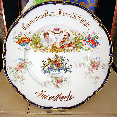 Rare Booths King Edward VII Queen Alexandra Plate Commemorative 1902 Troutbeck