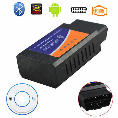 ELM327 Bluetooth OBD2 OBDII Car Diagnostics Scanner Code Reader For Android App