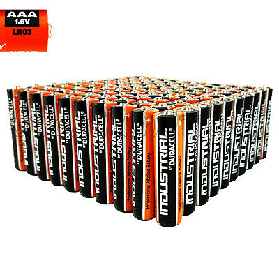 100 Duracell AAA batteries Industrial Procell Alkaline LR3 MN2400 1.5V EXP:2022