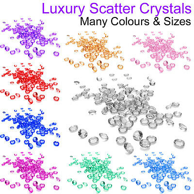 Wedding Table Scatter Crystals Venue Decoration Party Centerpiece Gems Table UK