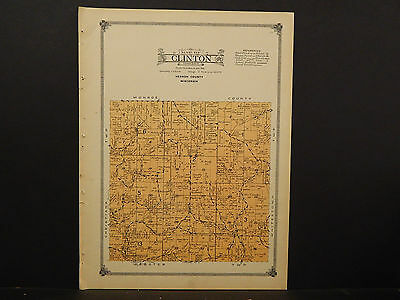 Wisconsin Vernon County Map 1915 Clinton Township O2 48 19 95
