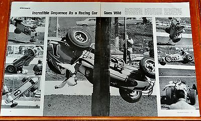 UNIQUE POSTER ROGER McCLUSKEY FLIPS OVER RACE CAR IN READING PA BEFORE INDY 500