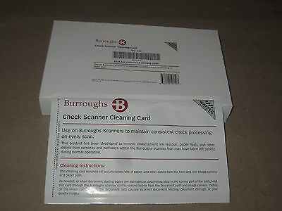 Box of (15) Burroughs Check Scanner Cleaning Card featuring Waffletechnology®