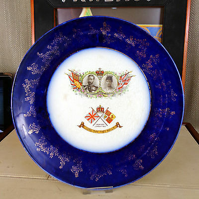 King George V Commemorative Plate Coronation 1911 Queen Mary Wood & Son Trent