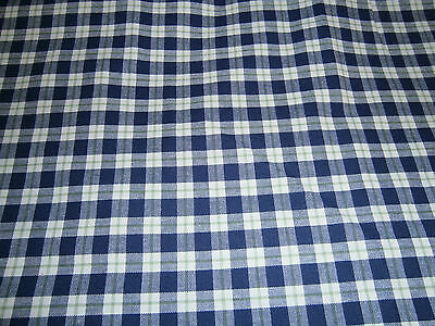 "Longaberger Blue Ribon Plaid Fabric - 60"" wide"