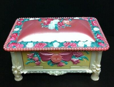 Vintage 1993 Fairywinkles Keepsake Pink Cottage Jewelry box play set Kenner L4