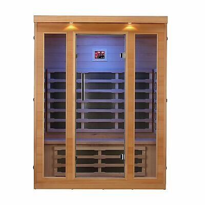 3-Person FAR Infrared Sauna with 9 Carbon FAR Infrared Heaters, Bluetooth