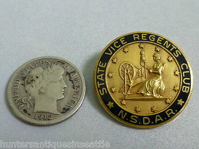 NSDAR National Society Daughters of the Amer. Rev. State Vice Regents Club Pin