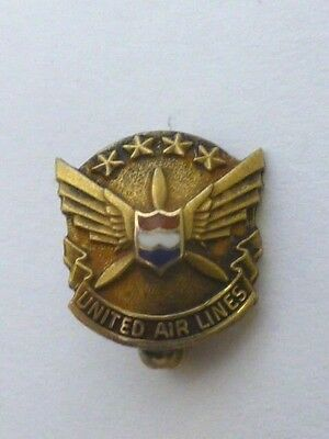 Vintage United Air Lines 10K yellow gold Pin