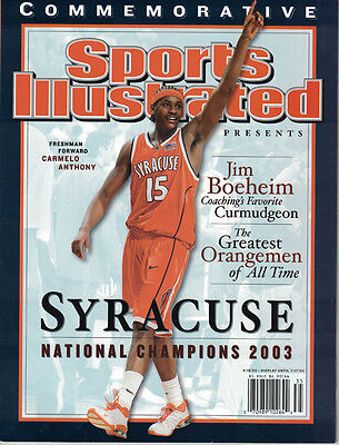 Carmelo Anthony Syracuse National Champions 2003 Sports Illustrated 4/16/03
