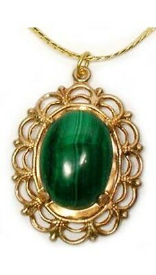 18thC Antique 14½ct Malachite Ancient Roman Anti-Evil Talisman Gem of Venus Juno