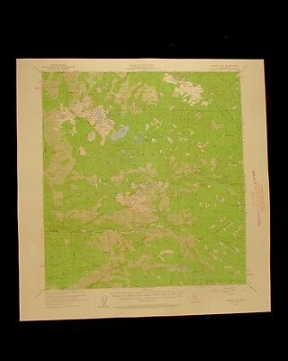Sierra City California vintage 1960 original USGS Topographical chart