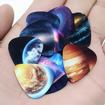 10pcs Musical Accessories Universe Planet Guitar Picks Mixed Plectrum Newest