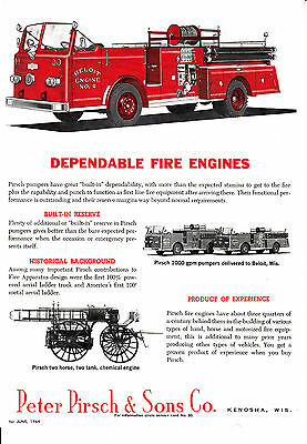 Beloit  Wi  Gets Two Pirsch Pumpers     1964   Ad       6283
