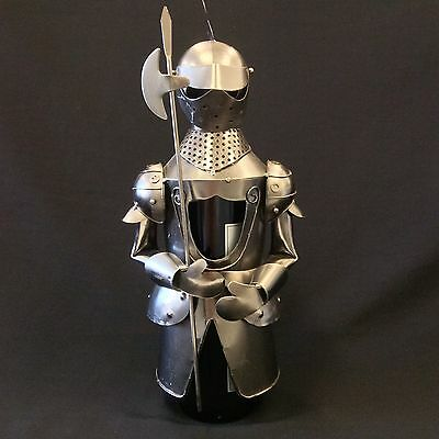 Metal Wine Bottle Holder/Rack Medieval Knight