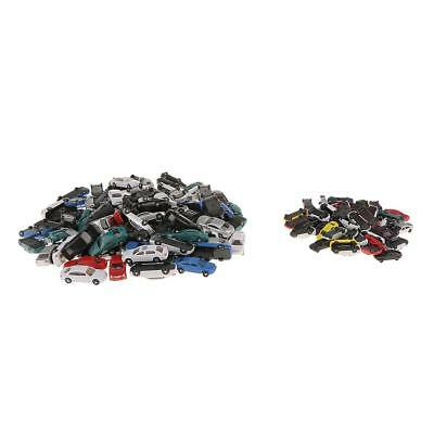 100pcs HO+50pcs N Scale Model Cars Vehicles Set for Street Railway Scene DIY