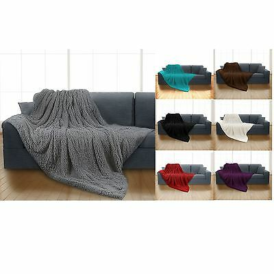 Luxury Long Pile Super Soft and Cuddly Shaggy 150x200cm Throw Blanket Faux Fur