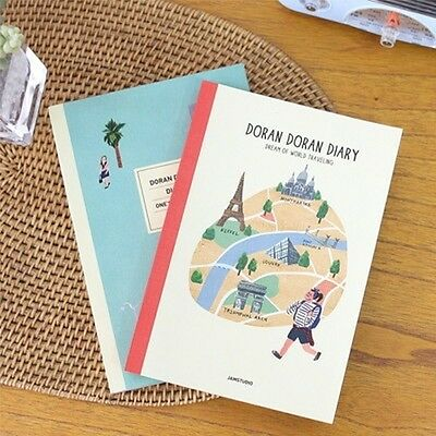 [DoranDoran Diary Undated] Daily Weekly Monthly Yearly Journal Planner Notebook