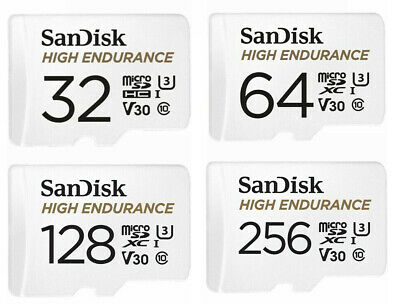 SanDisk MicroSD Card 32GB 64GB 128GB 256GB High Endurance Dash Security Camera