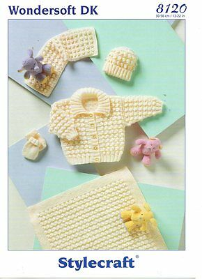 Stylecraft 8120 - Baby & Childrens DK KNITTING PATTERN - not the finished items