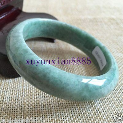 56--62mmm Certified Grade A Genuine Natural Green Jadeite Jade Bracelet Bangle
