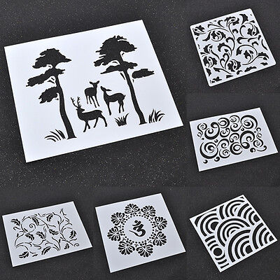 Spray Painted DIY Masking Template Stencils Decoration Airbrush Drawing Designs