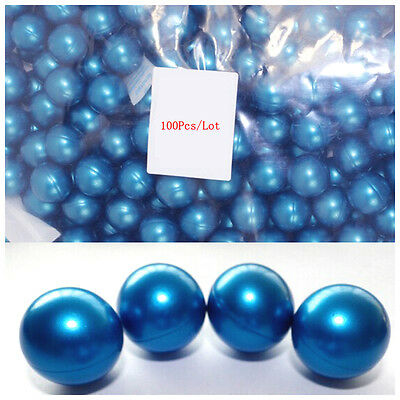 100Pcs/Lot Circular 3.9g Bath Oil Beads Floral Fragrance Bath Pearls Blue