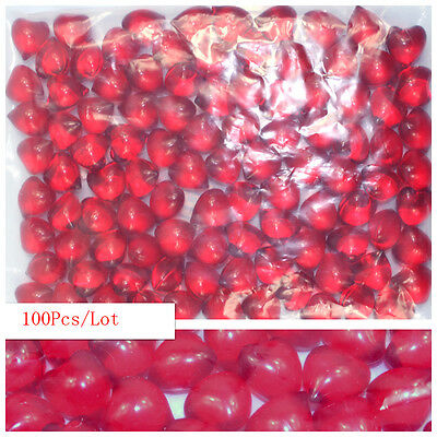 100Pcs/Lot Heart-Shaped 4.2g Bath Oil Beads Floral Fragrance Bath Pearls