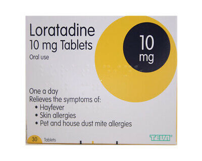 Loratadine one a day relief Hay fever allergy tablet 30 loratidine multi qt TEVA