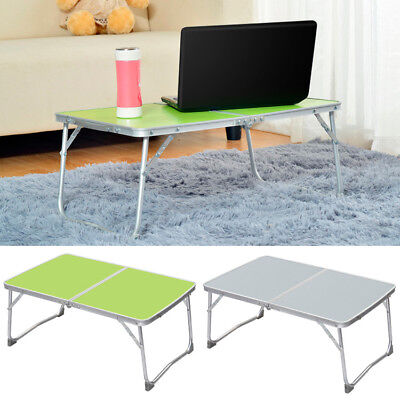 Adjustable Portable Camping Folding Table Laptop Desk Computer Reading Bed Tray
