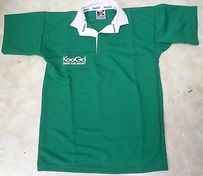Kooga Child's Rugby Shirt (Green - White Collar)