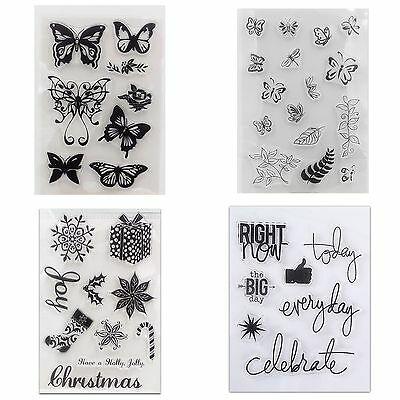 DIY Silicone Rubber Clear Stamps Seal Scrapbooking Diary Photo Card Decor Craft