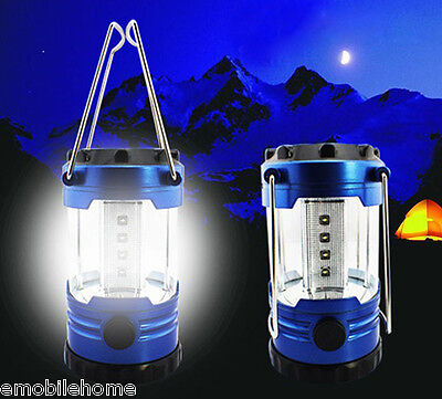 Multifunctional Ultra Bright 12 LED Camping Tent Hand Lantern Lights for Hiking.