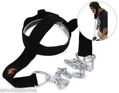 Head Harness Belt Neck Weight Lifting Strength Exercise Strap