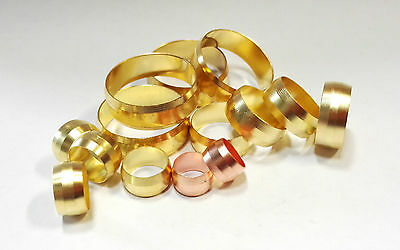 Quality Brass Compression Olives 8mm to 22mm Free P&P.