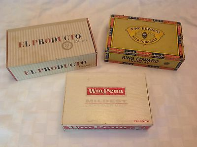 Lot Of Three Vintage Cigar Boxes
