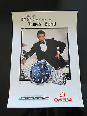 Omega Watches James Bond 007 Tomorrow Never Dies 1997 Seamaster Dutch Poster