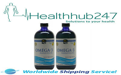 Nordic Naturals Omega 3 Liquid Lemon 474ml TWIN PACK EXPRESS DELIVERY