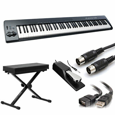 Alesis Q88 | 88-Key USB/MIDI Keyboard Controller With Bench + Sustain Pedal